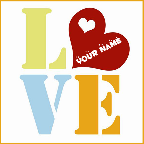 I Love You Wishes Romantic Greeting With Lover Name