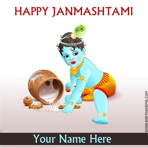 Happy Janmashtami 2018 Greeting With Name