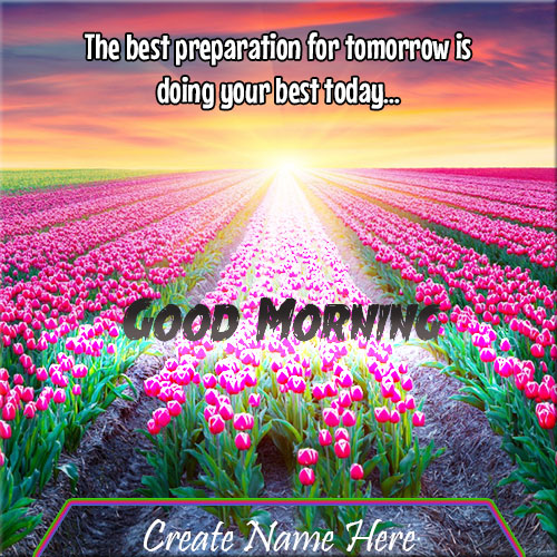 Beautiful Good Morning Quote Name Pics Online